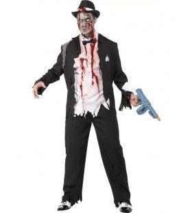 Zombie Gangster Man Kostuum