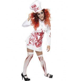 Bloederige Chefkok Halloween Vrouw Kostuum