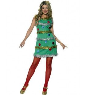 Sexy Kerstboom Vrouw Kostuum