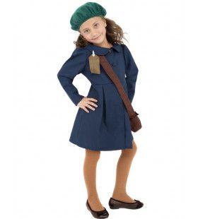 Tweede Wereldoorlog Vluchtelingkostuum Meisje Kostuum