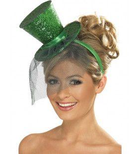 Mini Glitter Hogehoed Groen Vrouw