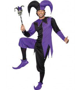 Middeleeuwsee Nar Man Kostuum