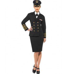 Marine Dames Vrouw Kostuum