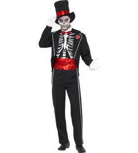 Skelet Circusdirecteur Man Kostuum
