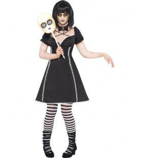 Horror Pop Met Masker Vrouw Kostuum