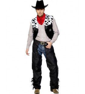 Cowboy Kostuum (Zwart Wit) Man