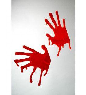 Bebloede Handen Raam Decoratie