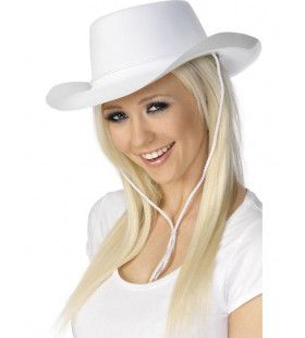 Witte Cowgirl Hoed