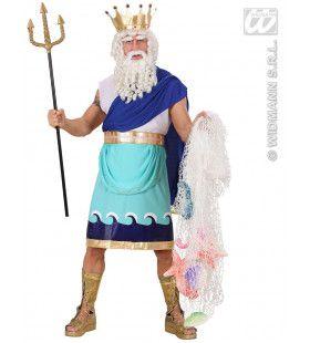 Mystieke God Poseidon Man Kostuum