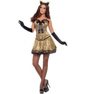 Vrouwelijke Kat Vrouw Kostuum