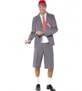 Schooljongen Man Kostuum