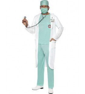 Chirurg Met Witte Jas Man Kostuum
