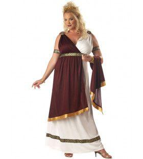 Romeinse Keizerin Kostuum (Grote Maat) Vrouw