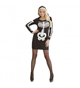 Glamour Skelet Meisje Vrouw Kostuum