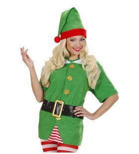 Elf Shirt Met Riem En Muts Kostuum