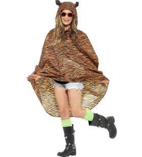 Tijger Poncho Kostuum