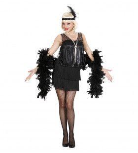 20s Jazz Flapper Zwart Vrouw Kostuum