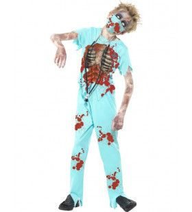 Kinder Bloederige Zombie Chirurg Jongen Kostuum