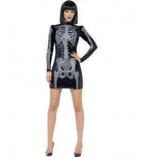 Sexy En Glimmend 3d Skelet Jurkje Vrouw