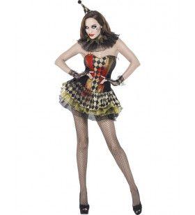 Volwassen Zombie Clown Dame Kostuum Vrouw