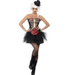 Volwassen Burlesque Korset Vrouw Kostuum