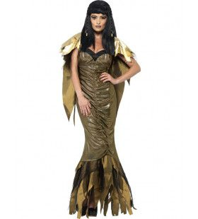 Donkere Lange Cleopatra Kostuum Vrouw