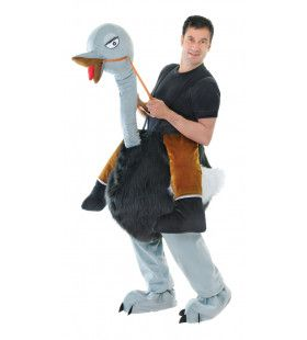 Ritje Met Een Struisvogel Kostuum