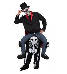 Op De Rug Van Een Horror Skelet Man Kostuum