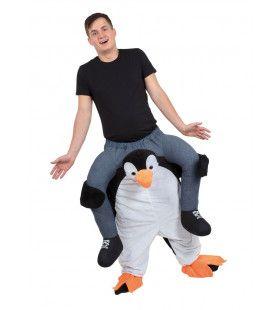 Op De Rug Van Een Parmantige Pinguin Kostuum