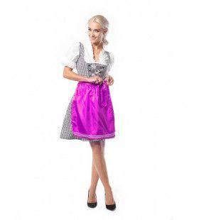 Dirndl Wendy Weissbier Zwart Pink Paars Vrouw Kostuum