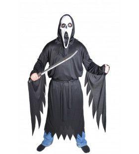 Gerafelde Zwarte Dood Horror Beul Kostuum