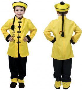 Shi Take China Jongen Kostuum