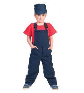 Blauwe Kinder Werkmans Overall Blauw Jongen Kostuum