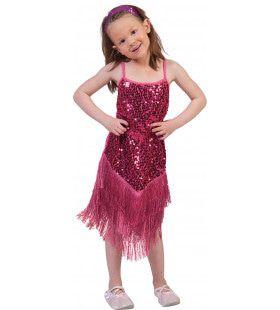 Glitter Fancy Flapper Jurk Roze Meisje