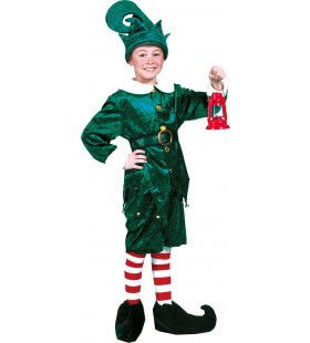 Amerikaanse Groene Kerst Elf Jongen Kostuum