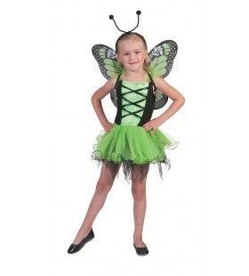Groene Vlinder Villeintje Meisje Kostuum