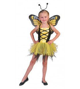 Gele Vlinder Villeintje Meisje Kostuum