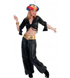 Jasmijn Topje Buikdanseres Zwart Vrouw
