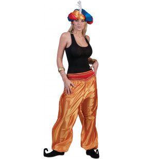 Gouden Oosterse Broek Vrouw Kostuum