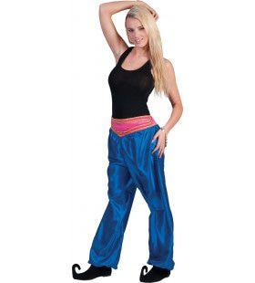 Blauwe Oosterse Broek Vrouw Kostuum