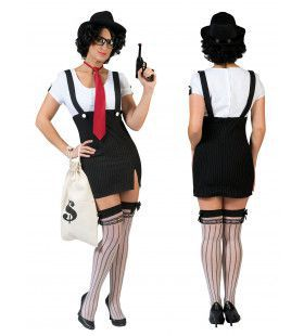 Bonnie De Dames Gangster Vrouw Kostuum