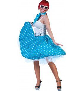 Rock N Roll Rok Blauw-Wit Vrouw