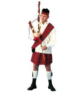 Rode Schotse Piper Flannagan Man Kostuum