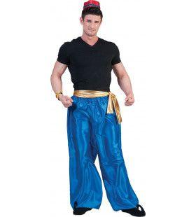 1001 Nachten Broek Blauw Man Kostuum