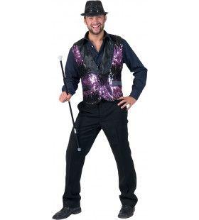 Purple Show Man Kostuum