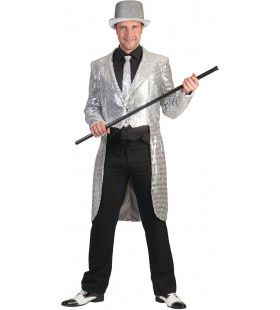 Frackjas Zilver Man Kostuum