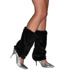 Fuzzy Beenwarmers Zwart