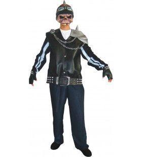 Skeleton Punker Man Kostuum
