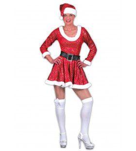 Glitter Kerstvrouw Jurk