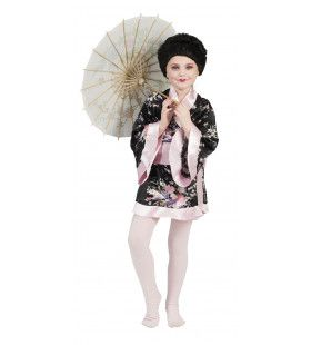 Kimono Roze Met Bloemen Meisje Kostuum